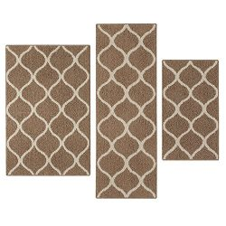 Kitchen Rugs Set, Maples Rugs [Made in USA][Rebecca] 3 Piece Sets Non Slip Padded Small Area Rug ...