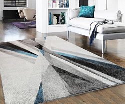 Home Culture Jazelle Modern Collection Area Rug, Lines