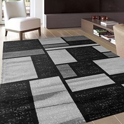 Rugshop Contemporary Modern Boxes Design Soft Indoor Area Rug, 5'3″ x 7'3&#824 ...