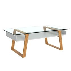 bonVIVO Designer Coffee Table Donatella, Modern Coffee Table For Living Room, White Coffee Table ...