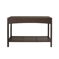 Magari Furniture MA-04 Outdoor Indoor Wicker Garden Patio Pool Towel Shoe Shelf Multipurpose Con ...