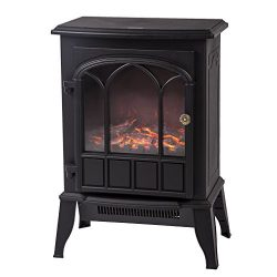 Electric Fireplace Heater Free Standing Portable, 750W/1500W Fireplace Heater