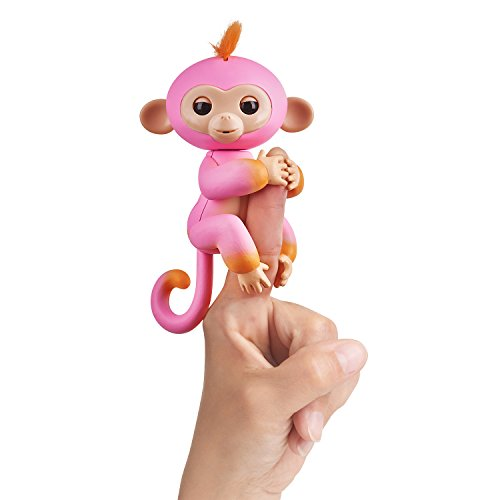 Fingerlings 2Tone Monkey – Summer (Pink with Orange accents) – Interactive Baby Pet  ...