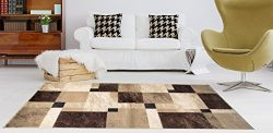 Adgo Atlantic Collection Modern Abstract Geometric Rectangular Soft Pile Contemporary Carpet Thi ...