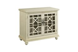 Martin Svensson Home 91033 Small Spaces 2-Door Accent Cabinet-TV Stand, Antique White