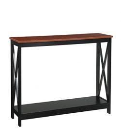 Convenience Concepts Oxford Console Table, Cherry/black