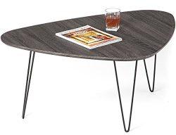 Mango Steam Saratoga Coffee Table – Brushed Black Oak – Wood Textured Top and Durabl ...