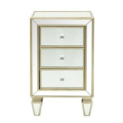 Pulaski DS-D018006 Glam Mirrored Accent Drawer Chest, 18.13″ x 13.13″ x 29.25″
