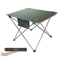 KingCamp Ultra Lightweight Foldable Camping Tables Portable Compact Roll Up Table Picnic Hiking  ...