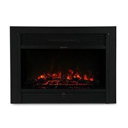 XtremepowerUS 28.5″ 1500W 5200BTU Embedded Electric Fireplace Insert Heater W/Remote Control