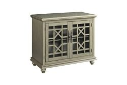 Martin Svensson Home 91034 Small Spaces 2 Door Accent Cabinet-TV Stand, Antique Silver