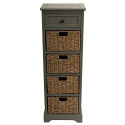 Décor Therapy FR1807 5 Drawer Montgomery, Antique Gray Finish