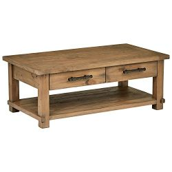Stone & Beam Ferndale Rustic Coffee Table, 51″ W, Pine