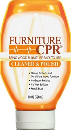 Furniture CPR (18oz Bottle) – Cleans, Polishes & Restores Wood Furniture with No Wax Build-u ...
