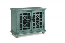 Martin Svensson Home 91031 Small Spaces Accent Cabinet-TV Stand 2-Door, Teal