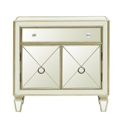 Pulaski DS-D018007 Glam Mirrored Accent Chest, 32.0″ x 13.13″ x 32.5″