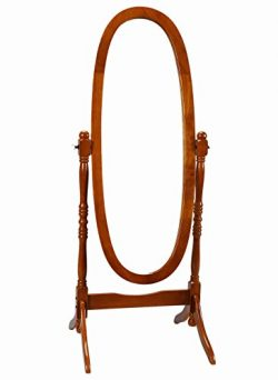 Frenchi Home Furnishing Oak Cheval Mirror Stand