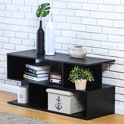 Homury Wood Coffee Table Media TV Stand Storage Console Cabinet Bookcase Display Stand Cabinet S ...