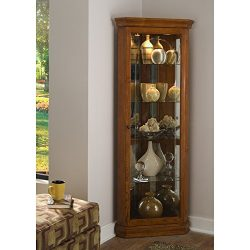 Sofaweb.com Golden Oak Brown Corner Curio Cabinet
