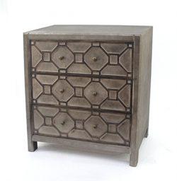 Teton Home AF-013 Wood Dresser with Geometric Design