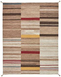 Stone & Beam Modern Gabbeh Inspired Wool Rug, 8′ x 10′, Sand Multi