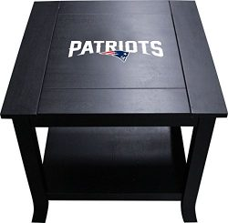 Imperial Officially Licensed NFL Furniture: Hardwood Side/End Table, New England Patriots