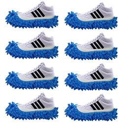 4 Pairs Slipper Shoes Cover Dust Mop Cover Lazy Floor Household Cleaning Duster Washable for Bat ...