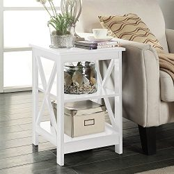 Square X Design Bywater Dauphine Sofa End Table (White)