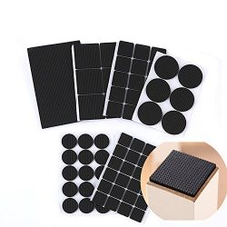 1Set(7PCS) Black Multi-functional Thickening Antiskid Heavy Duty Adhesive Furniture Floor Protec ...