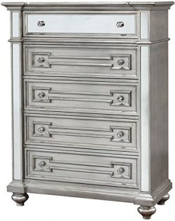 Furniture of America CM7673C Salamanca Silver Chest Drawer