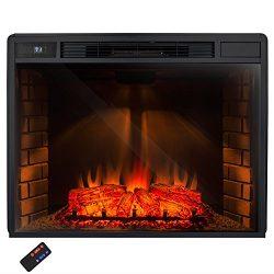 AKDY® 33″ Freestanding Electric Heater Fireplace Log Set w/ Remote Control AZ-EF05-33