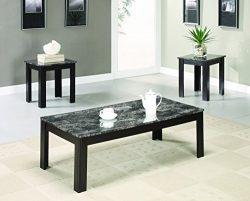 Coaster Home Furnishings 700375 Casual Living Room 3 Piece Set, Black