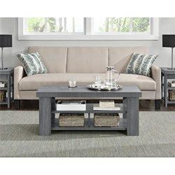 Sturdy Sleek Look Design Grey Oak Coffee Table