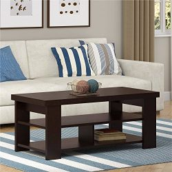 Ameriwood Home Jensen Coffee Table, Multiple Colors (Coffee Table, Espresso)