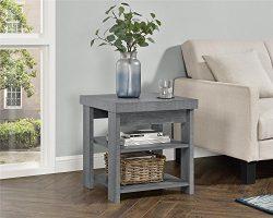 Ameriwood Home Jensen End Table, Multiple Colors (End Table, Gray Oak)