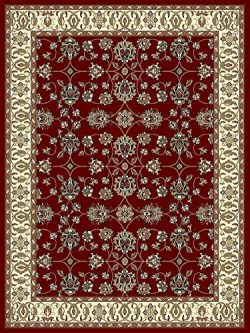 Large Rugs for Living Room 8×11 Red Traditional Clearance Area Rugs 8×10 Under 100 Pri ...