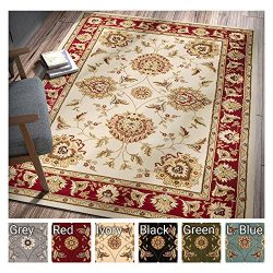 Sultan Sarouk Ivory Persian Floral Oriental Formal Traditional 8×11 8×10 (7'10&# ...