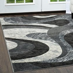 Modern Design, Stylish  Area Rug by Home Dynamix, HD2459-451, Gray | Catalina Huron Rug Collecti ...