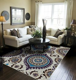 Blue Rugs for Living Room 8×10 Clearance