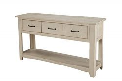 Martin Svensson Home 890143 Rustic Sofa Table, Antique White
