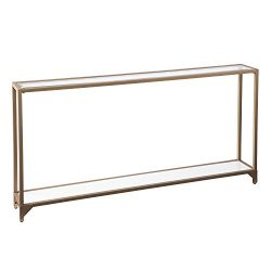 Furniture HotSpot – Metal Skinny Console Table – Gold – 56″ W x 8″ ...