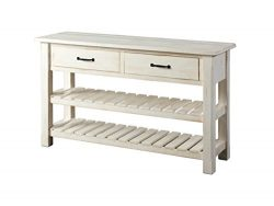 Martin Svensson Home 890243 Sofa-Console Table, Antique White