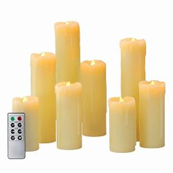 Flameless LED Candles by LampLust | Battery Operated, Ivory Wax Drip, Heights of 4″,5&#824 ...