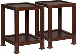 OneSpace 100% Recycled Paper End Tables, Teak (Set of 2)