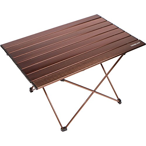 Trekology Portable Camping Tables with Aluminum Table Top, Hard-Topped Folding Table in a Bag fo ...