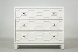 Jofran 1425-40, Matrix, Accent Chest, 40″ W X 14″ D X 34″ H, Polar White, (Set ...