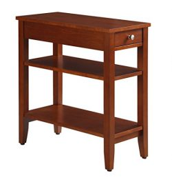 Convenience Concepts American Heritage 3-Tier End Table with Drawer, Cherry