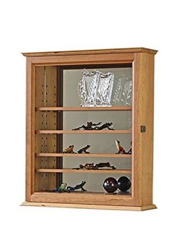 Mirror Back Curio Display Case- Cherry Hardwood *Made in the USA*