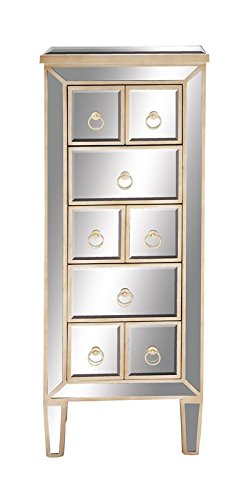 Deco 79 Wood Mirror Chest, 18 by 48-Inch