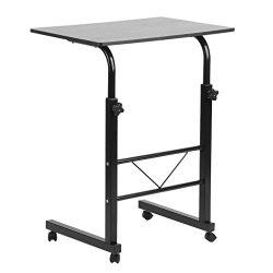 Homgrace Laptop Stand, Medical Over bed table,Laptop desk with Wheels Portable Side Table ,Adju ...